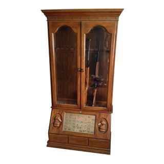 Duck Carved Gun Display Cabinet