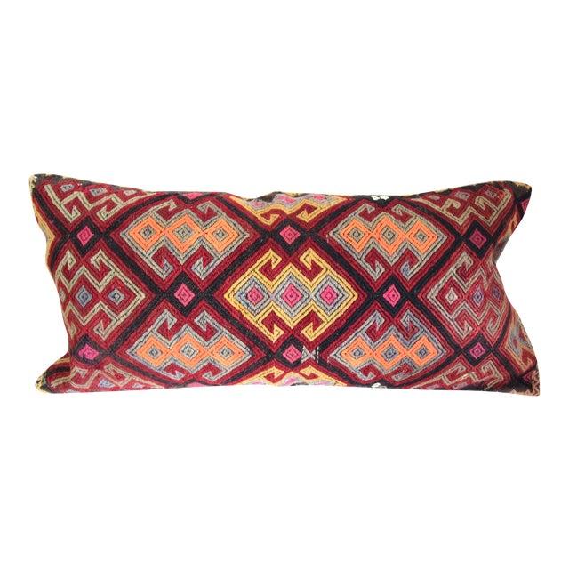 Oversized Burgundy Turkish Kilim Cushion - Image 1 of 4