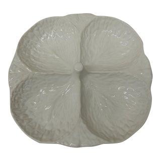 White Majolica Square Platter