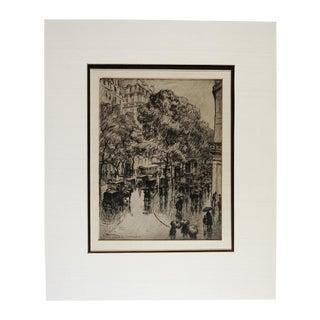 Frank Armington Paris Etching