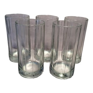 Vintage Anchor Hocking Ribbed Glasses- Set of 5