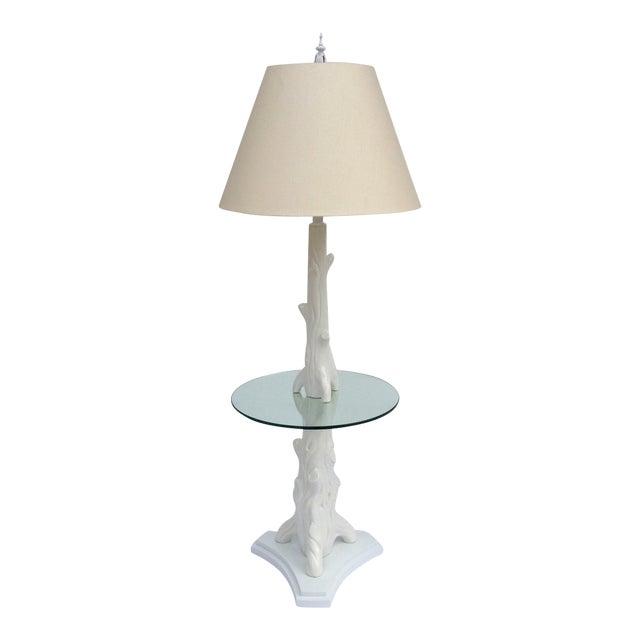 Mid-Century Porcelain Faux-Bois Floor Lamp - Image 1 of 11