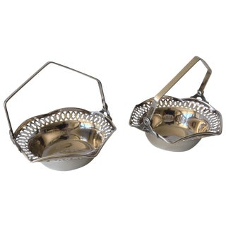 Silver Plated Nut Dishes - A Pair