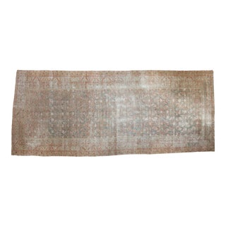 "Distressed Antique Malayer Rug Runner - 7'2"" x 17'3"""