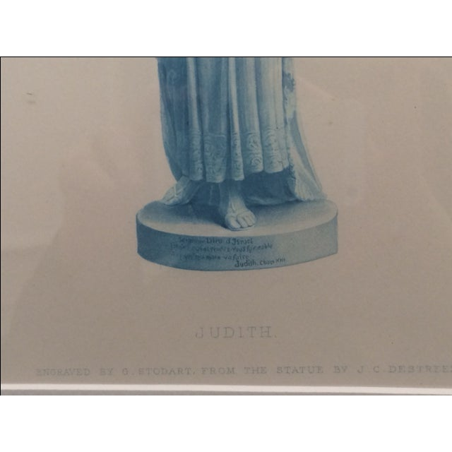 """Antique Collectors """"Judith"""" Statue Engraving - Image 5 of 5"""