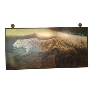 Maitland Smith Hand-Painted Cheetah Painting
