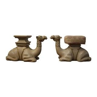 Arabic Camel Stools - Pair