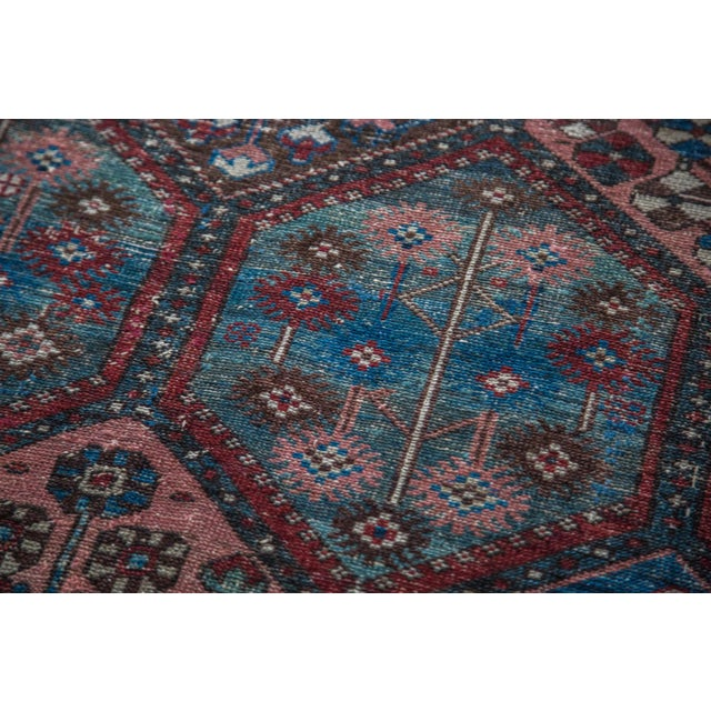 "Antique Distressed Bakitary Rug - 4'8"" X 7'3"""