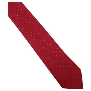 Vintage Silk Red Skinny Polka Dot Tie