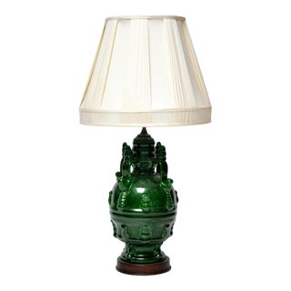 Frederick Cooper Deep Green Water Carrier Style Lamp
