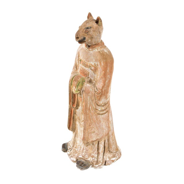 Antique Chinese Zodiac Rat Figurine - Image 1 of 9