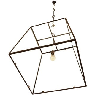"Customizable ""Lorain"" Iron & Glass Single-Bulb Lantern"