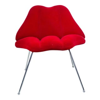 "Modern Red Velvet ""Lips"" Chair"