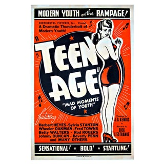 "Original ""TEEN AGE"" Film Poster -1944"