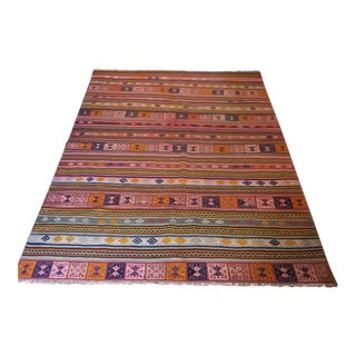 Vintage Turkish Kilim Rug - 5′ × 7′5″
