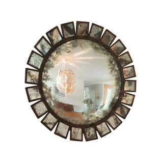 Sunburst Convex Industrial/Brutalist Mirror