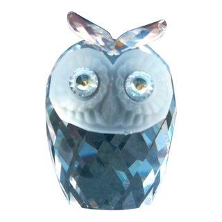 Swarovski Crystal Owl Figure