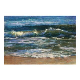 """Waves"" Original Seascape Painting Pastel Drawing"
