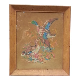 Needlepoint in Wooden Frame