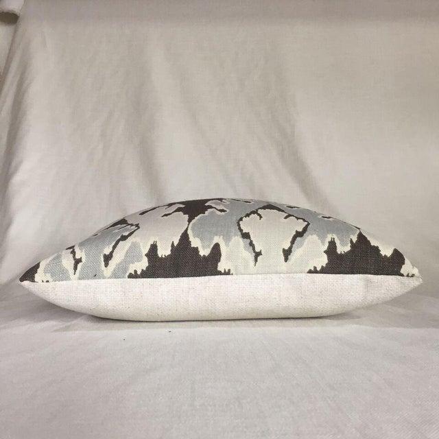 Kim Salmela Brown/ & Gray Ikat Pillow - Image 2 of 3