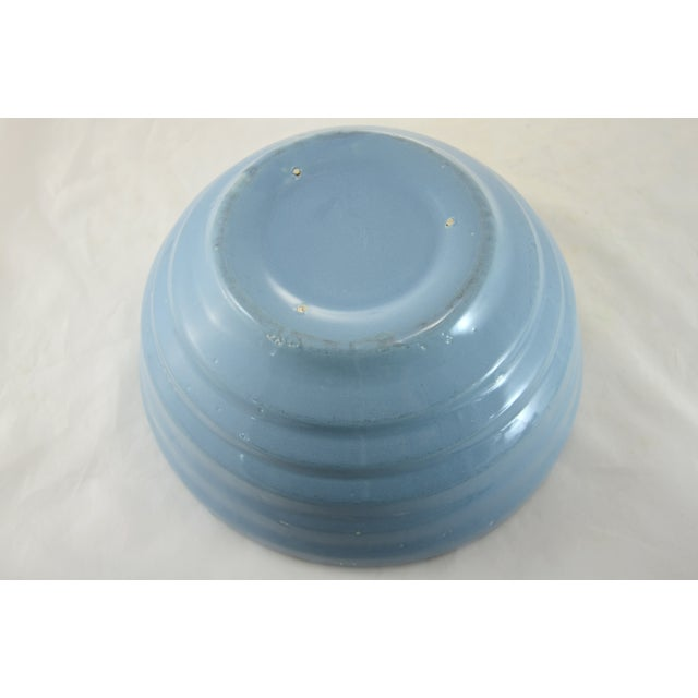 Image of Rustic Blue Beehive Bowl