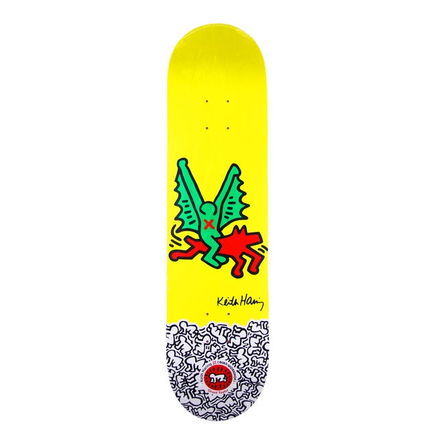 Rare Keith Haring Yellow Skate Deck - Image 1 of 3