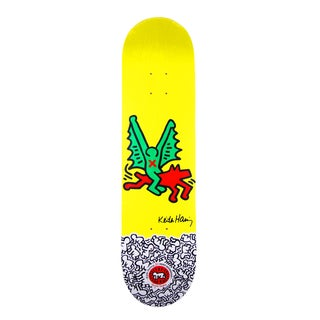 Rare Keith Haring Yellow Skate Deck