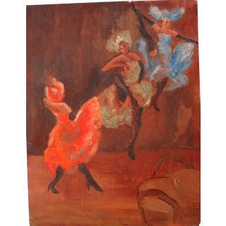 """Sante Graziani """"Dancers"""" Expressionist Painting"""