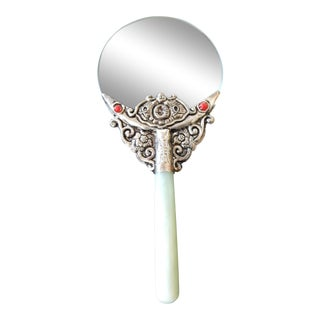 silver Magnifier w/ jade handle