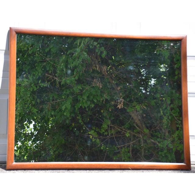 Mid-Century Mahogany Mirror - Image 2 of 5
