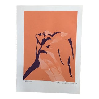 Woman's Profile Signed Print