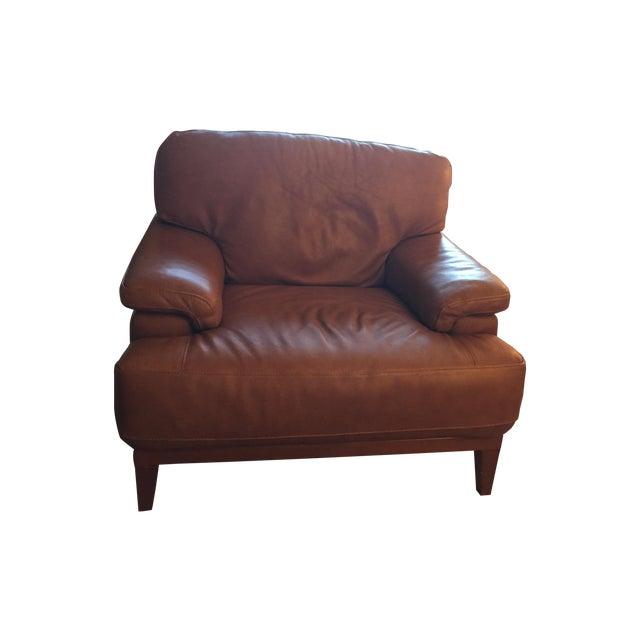 Designer Italian Leather Chair - Image 1 of 6