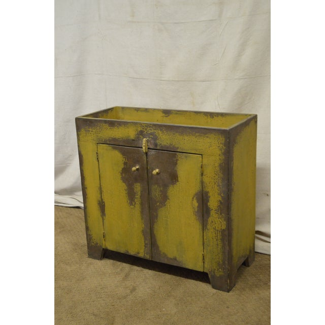 Primitive Distressed Painted Country Small Dry Sink Cabinet - Image 3 of 11