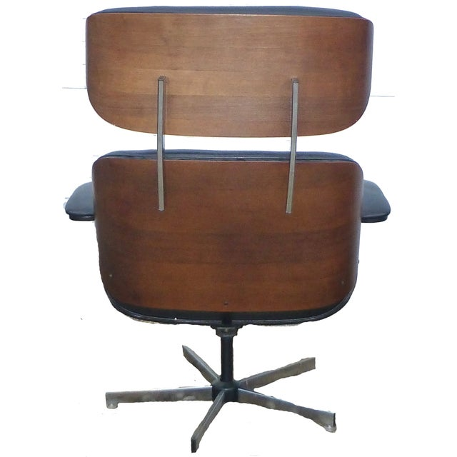 Plycraft Mid-Century Chairs & Ottomans - A Pair - Image 4 of 8