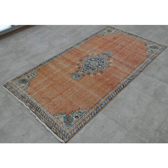 "Turkish Brown Overdyed Hand Knotted Rug - 3'4"" X 6'7"" - Image 4 of 9"
