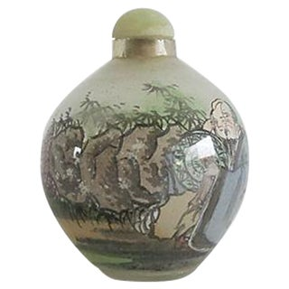 Handpainted Chinese Glass Perfume Bottle