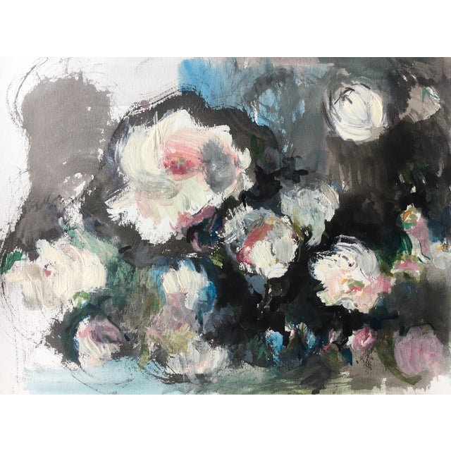 """""""White Roses"""" Painting - Image 2 of 4"""