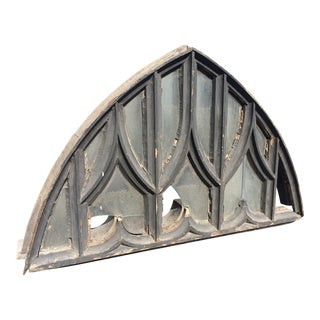 Antique American Gothic Arch Window