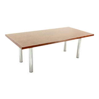 Rosewood & Chrome Conference Dining Table