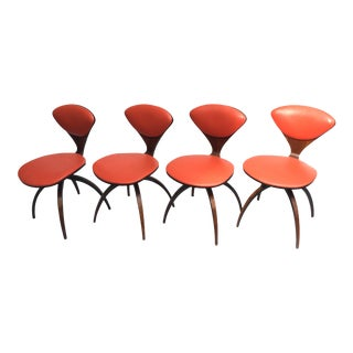 Norman Cherner Swivel Bentwood Chairs for Plycraft - Set of 4