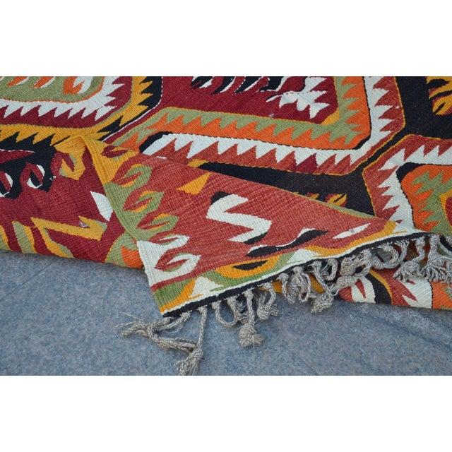 "Turkish Kilim Wool Rug - 5'8"" x 10' - Image 5 of 6"