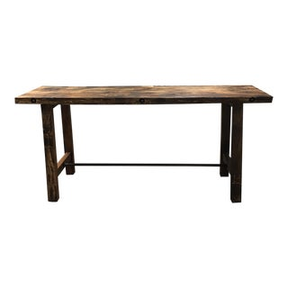 Custom Reclaimed Wood Rustic Style Counter Height Table