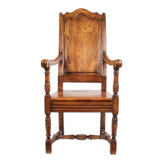 Elizabethan-Style Raised Panel Armchair