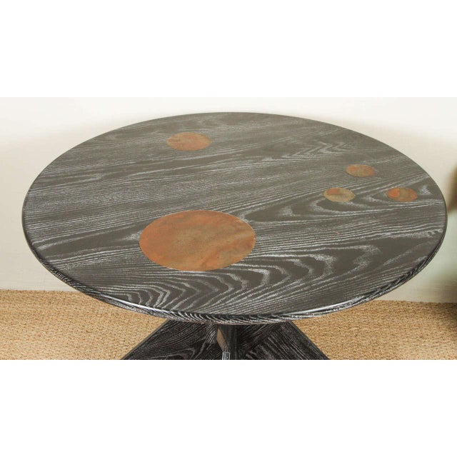 Image of Martin & Brockett Circle Entry Table With X Base