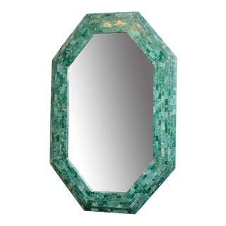 Emerald Maitland-Smith Large Tessellated Marble Mirror