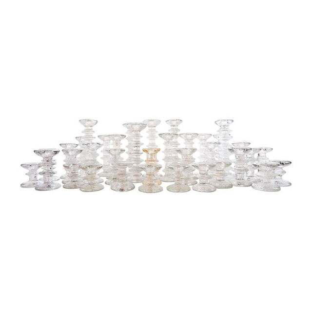 """1970s """"Ice Crystal"""" Candlesticks - Set of 36 - Image 1 of 5"""