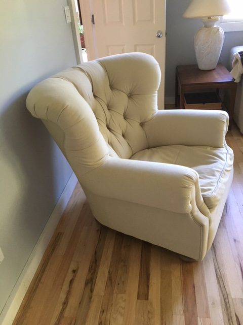 Restoration Hardware Churchill Upholstered Chair And Ottoman   Image 6 Of 7
