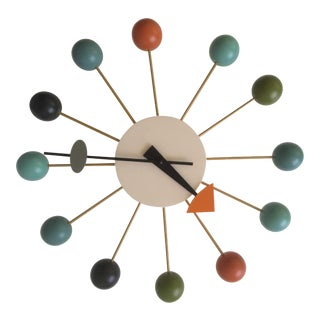 Vintage George Nelson Style Atomic Ball Clock
