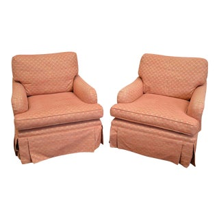 High Quality Custom Upholstered Lounge Chairs - a Pair