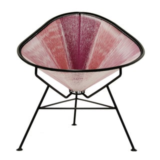 Mid-Century Style Acapulco Pink Lounge Chair